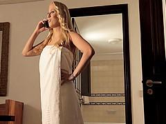 Doggystyle sex scene with brunette milf Aliz, wearing bodystocking