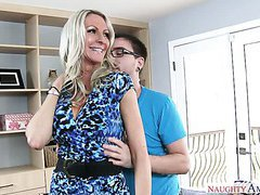 Always ready for dirty sex blond milf seduces four eyed friend of her husband