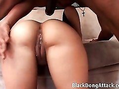 White whore gives her asshole to black dick