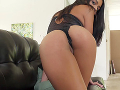 Vienna Black uses a dildo while being fucked by a nasty fellow
