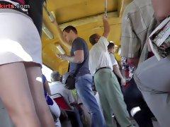 Angel impresses bus public with upskirt