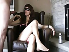 Amateur long legged torrid MILF in sunglasses talks dirty and acts rough