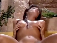 Pretty Dark hair Laura Angel Swallowing Hot Jizz