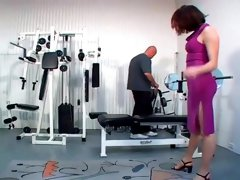 Hairy Pussy Girl Nadia Banged In The Gym