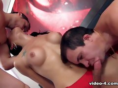 Sabrina De Castro in Tgirl Sabrina De Castro Gets Her Ass Stretched By 2 Guys - DreamTranny
