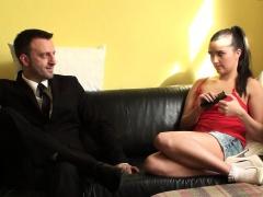 Sub slut punished by pussyfucking doggystyle