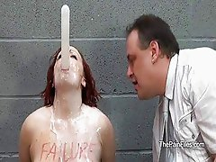 Bizarre female humiliation and messy destruction
