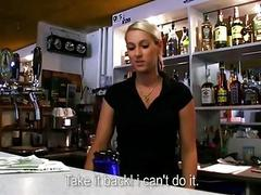 Gorgeous bartender Lenka fucked at work