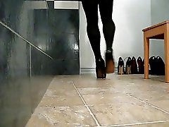 black pumps, high heels (high heels fetish video)