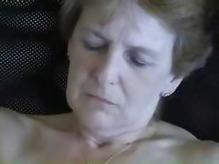 Old Amateur Mature Granny Wife Masturbating Shaved Wet Pussy