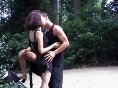 Two MILF And One Man Public Sex In Park
